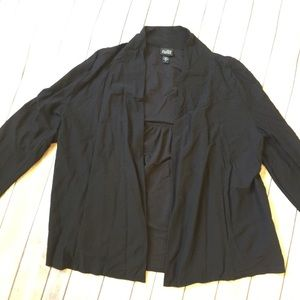 Eileen Fisher Open Cardigan Black Viscose Small.